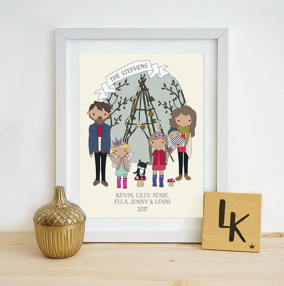 Image of Personalised Family Illustration