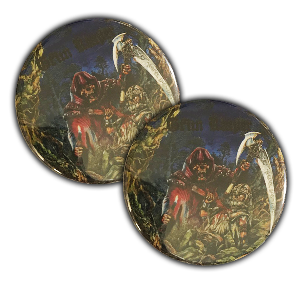 Image of Rock you to Hell button badge