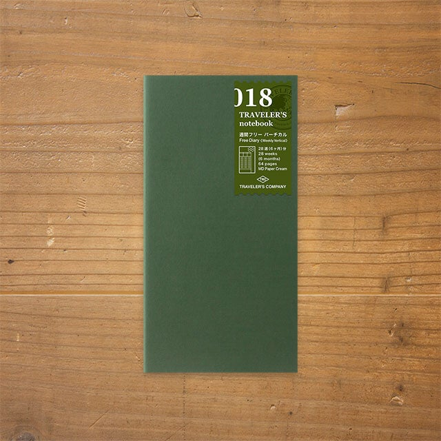 Image of Traveler's Company Weekly Vertical Free Diary 018