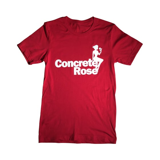 Image of Concrete Rose T-Shirt Red
