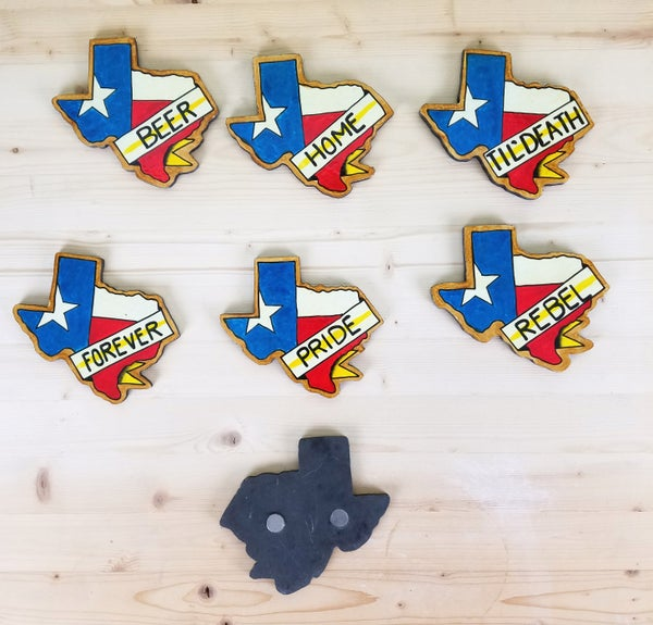 Image of Handmade Texas Magnet