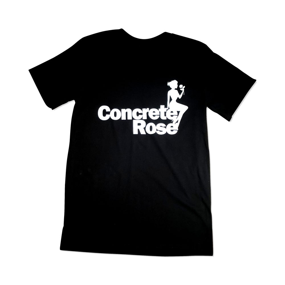 Image of Concrete Rose T-Shirt Black