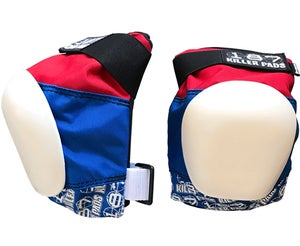 Image of PRO KNEE PAD  RED WHITE BLUE