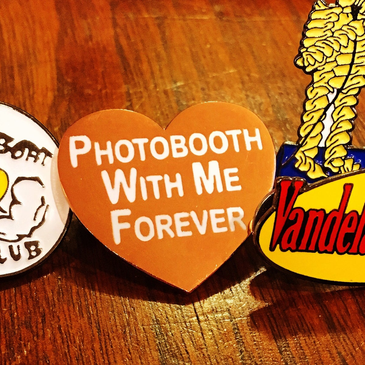 Image of Photobooth With Me Forever Hard Enamel Pin
