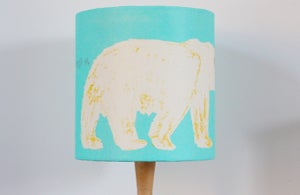 Image of Polar Bear screen printed lampshade