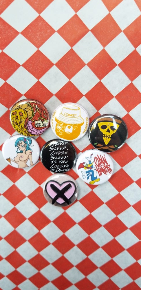 Image of Limited edition pack #2 of 24 half dozen button set + bonus button (jan15-31series)