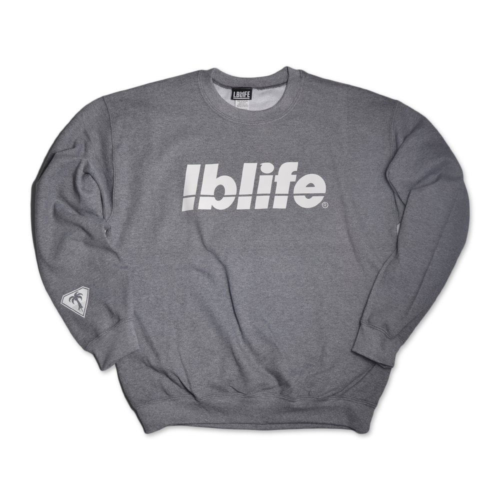 Image of LOWERCASE GRAPHITE GRAY MENS CREWNECK