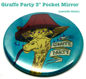 Giraffe Party - Buttons & Pocket Mirrors - CLEARANCE