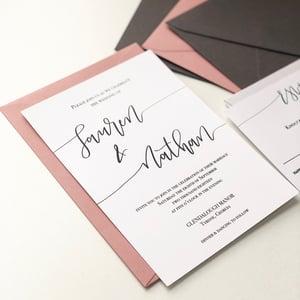 Image of Lauren Calligraphy Invitation Suite