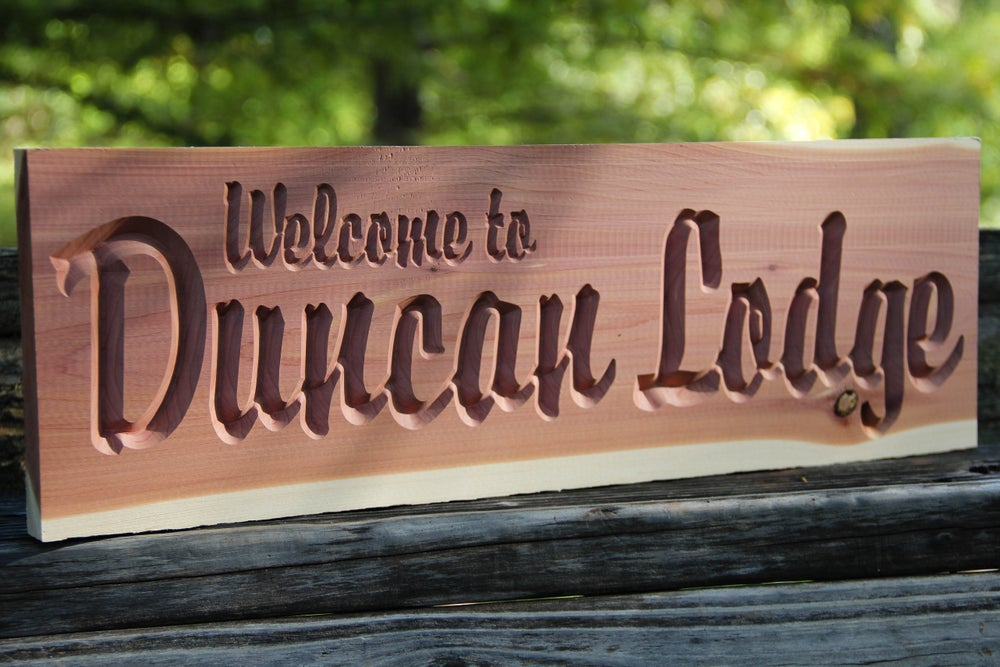 Personalized Wood Sign Cnc Custom Carved Aromatic Cedar Wood Sign Lodge