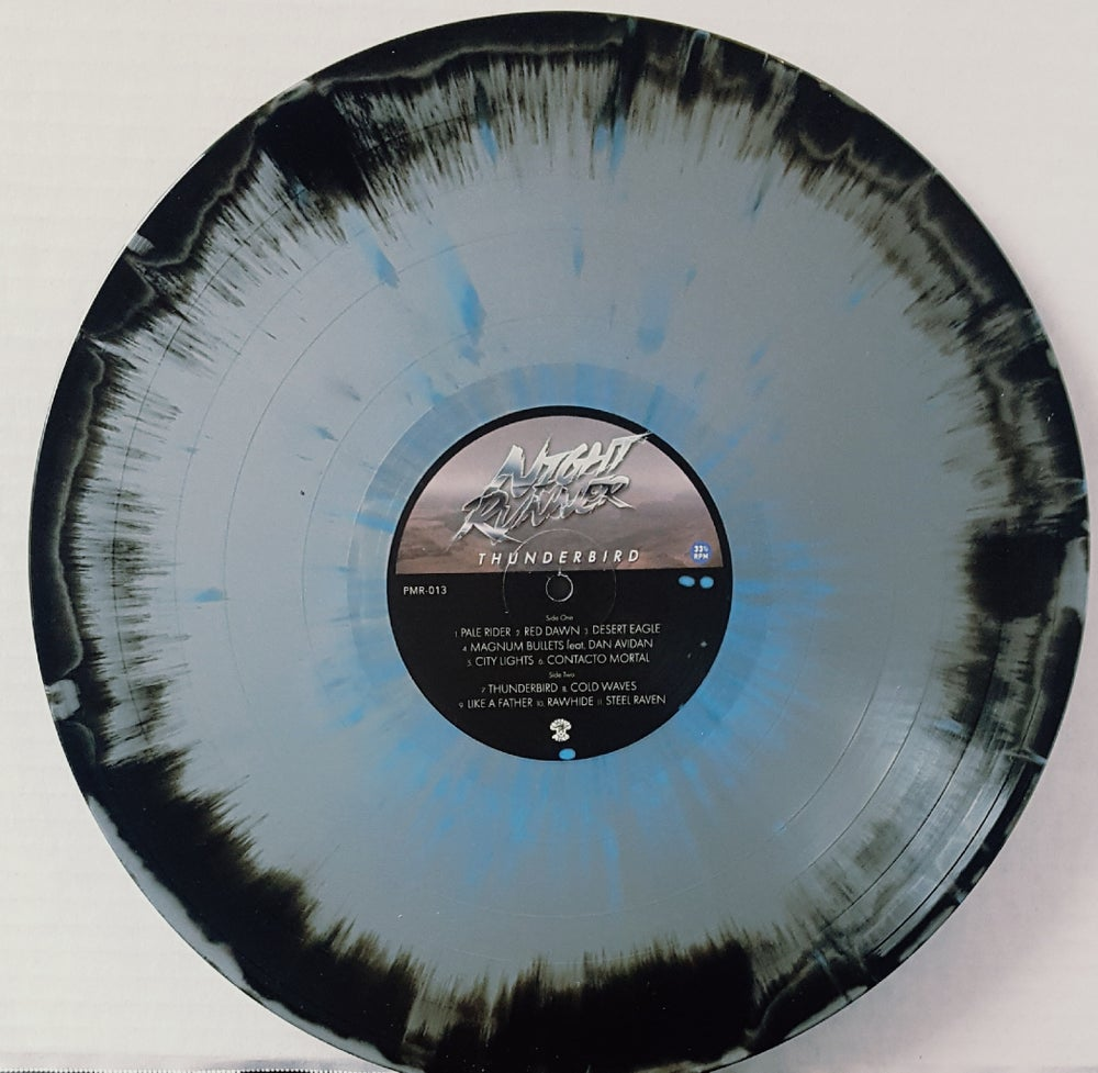 Image of Night Runner: Thunderbird Black/Grey w/Blue splatter 163 copies