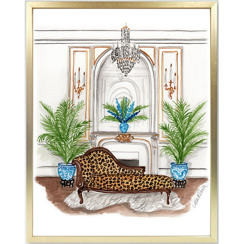Image of Leopard Chaise