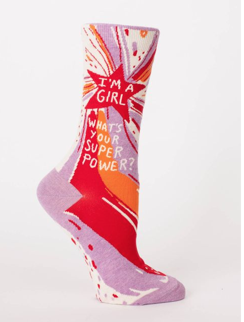 Image of What's Your Superpower Socks