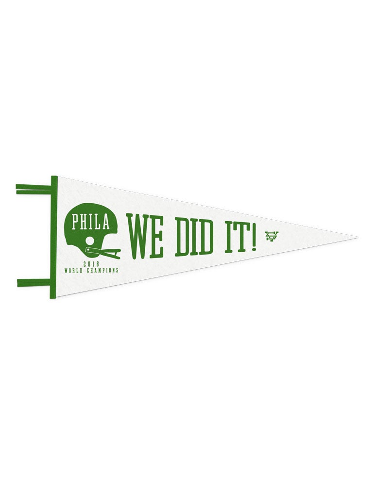 Image of 2018 World Champs - We Did It Pennant