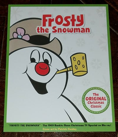 Image of FROSTY THE SNOWMAN 8.5x11 BLU-RAY COVER ART PRINT - RANKIN/BASS