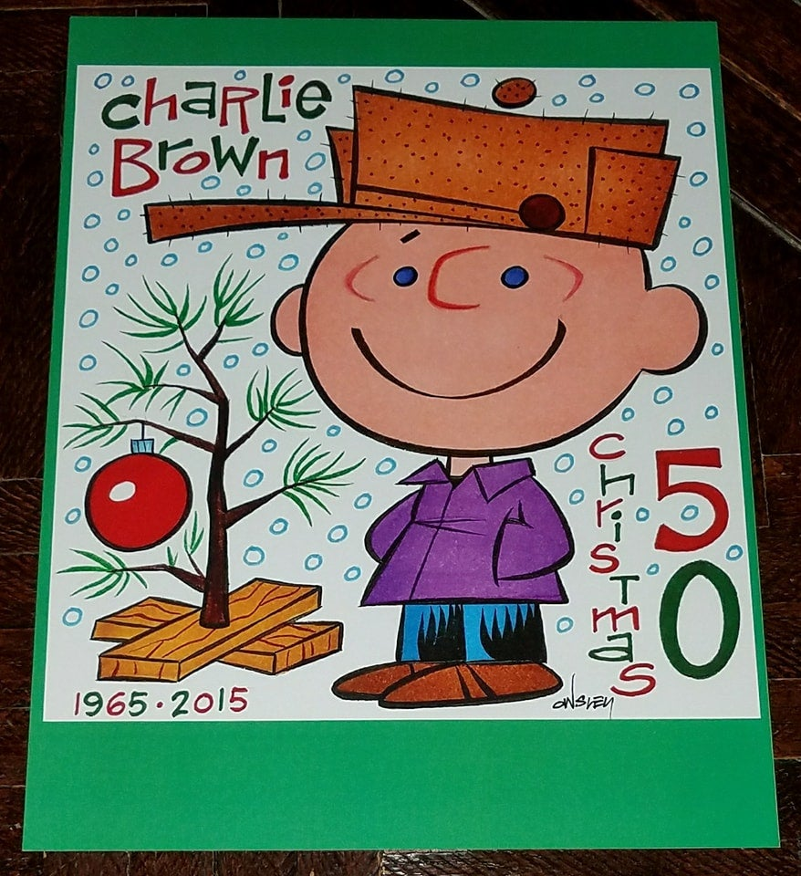 Image of CHARLIE BROWN CHRISTMAS 8.5x11 SKETCHBOOK TRIBUTE PRINT