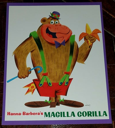 "Image of MAGILLA GORILLA 8.5x11 ""LITTLE GOLDEN BOOK"" TRIBUTE print"