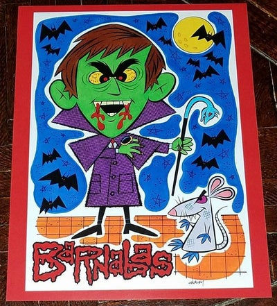 Image of BARNABAS COLLINS 8.5x11 SKETCHBOOK PRINT - DARK SHADOWS