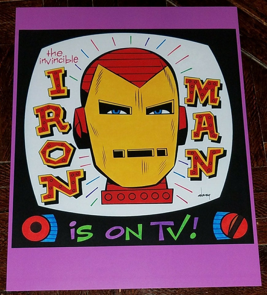 Image of IRON MAN IS ON TV! 8.5x11 SKETCHBOOK PRINT