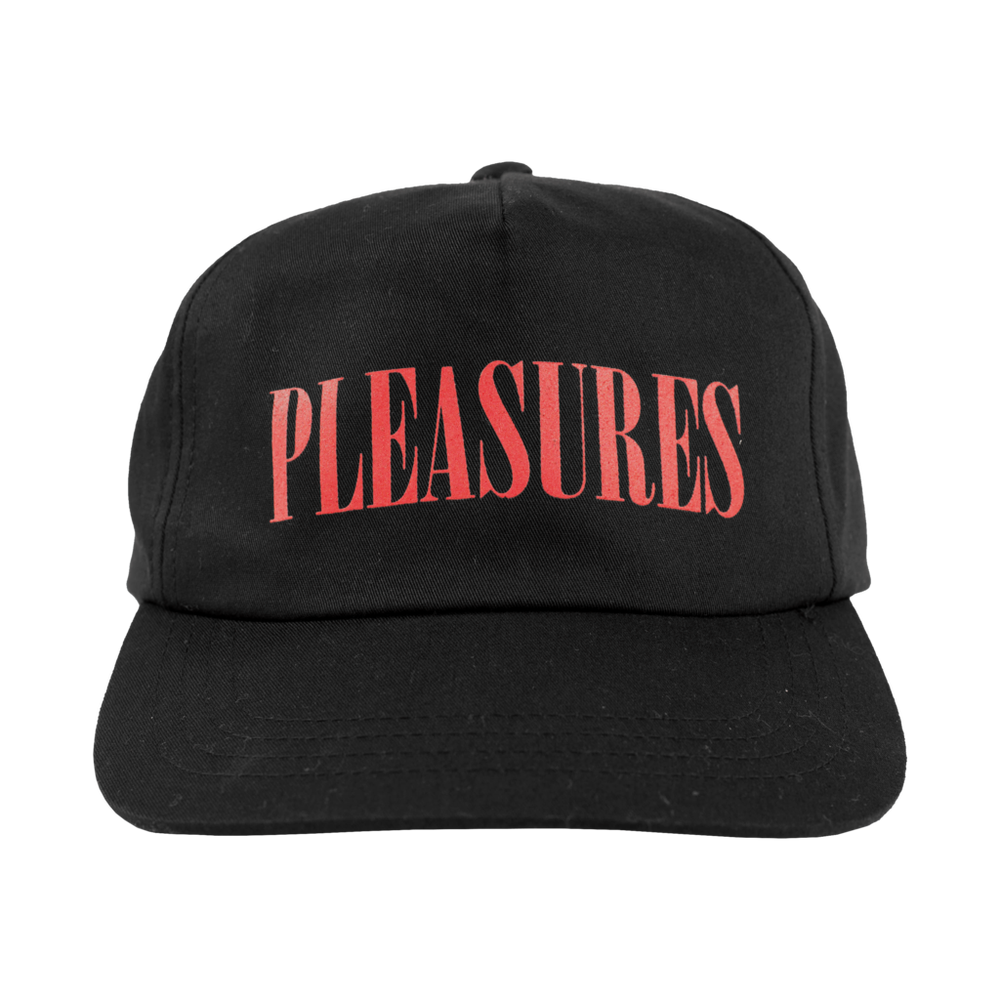 Image of PLEASURES - LOGO CAP (BLACK)