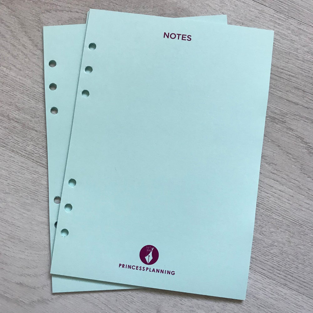 Image of A5 BLUE PRINCESS PLANNING NOTE PAPER ORGANISER