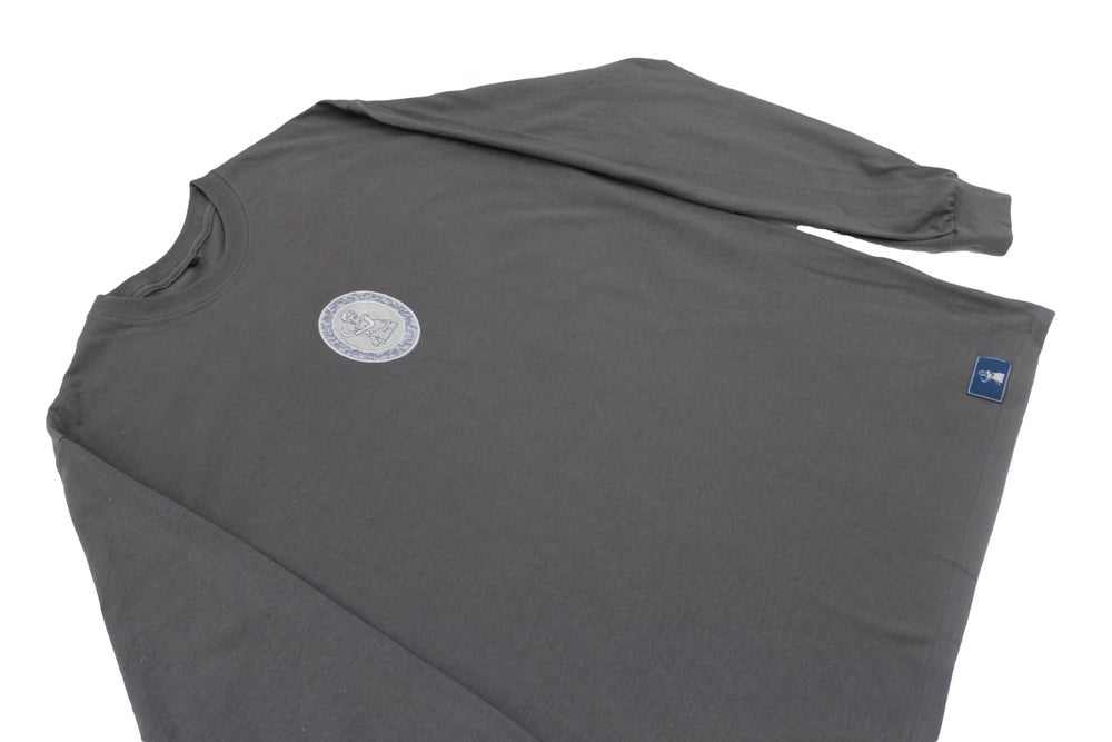 Image of Broski - Medallion Embroidered Long Sleeve Grey
