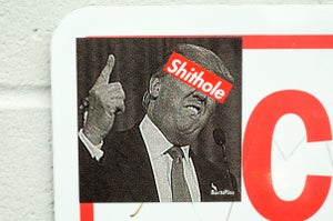 Image of Trump's a Shithole Shirt