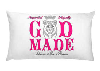 Image of God Made long pillow-pink