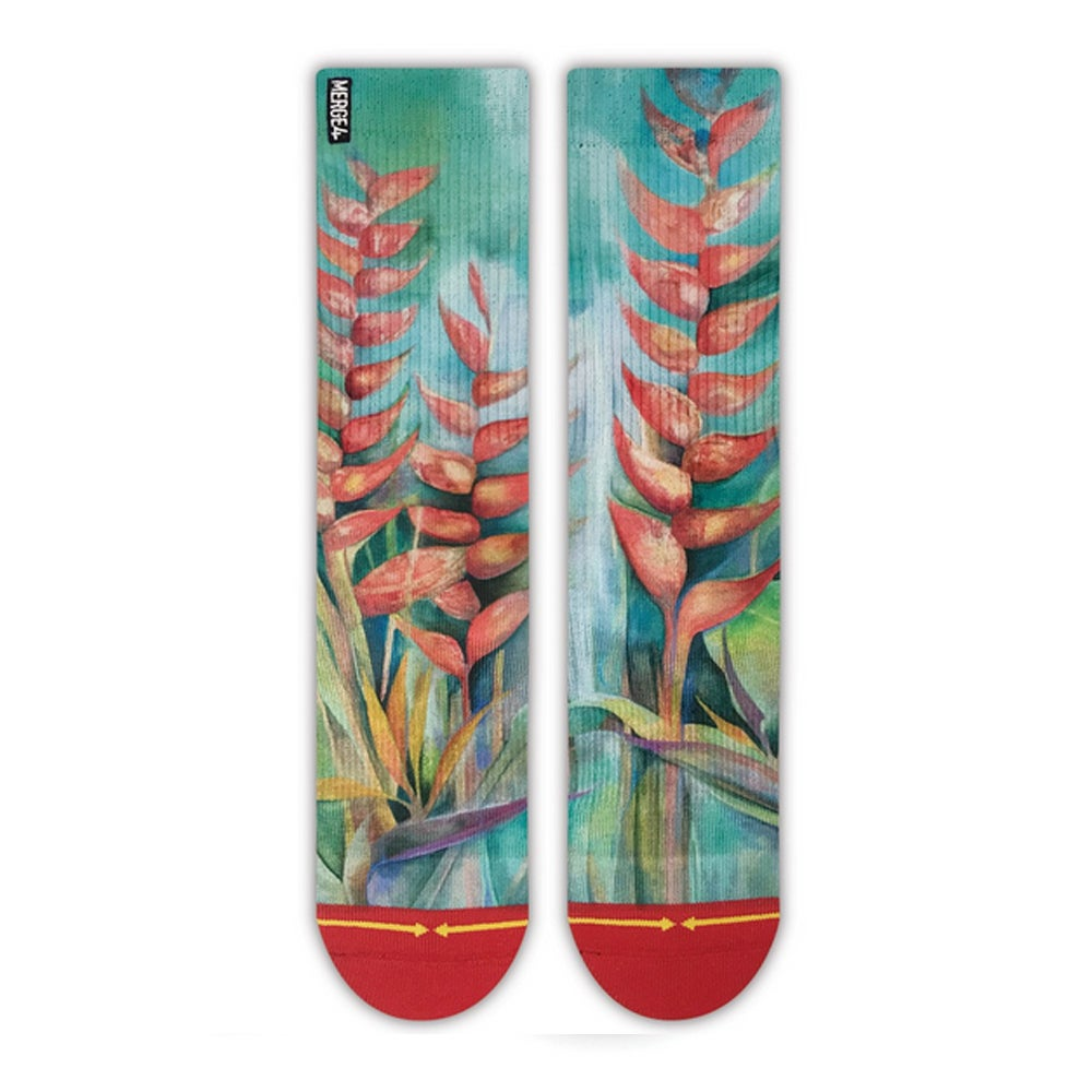 Image of Heliconias, Merge4 Socks