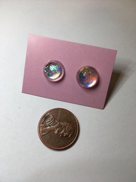 Image of Floating Flakie Resin Earrings