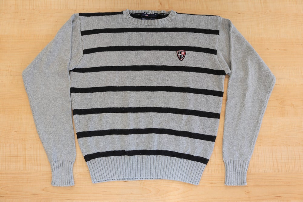 Image of Vintage 1990's Ralph Lauren Polo Sport Striped Sweater Sz.XL