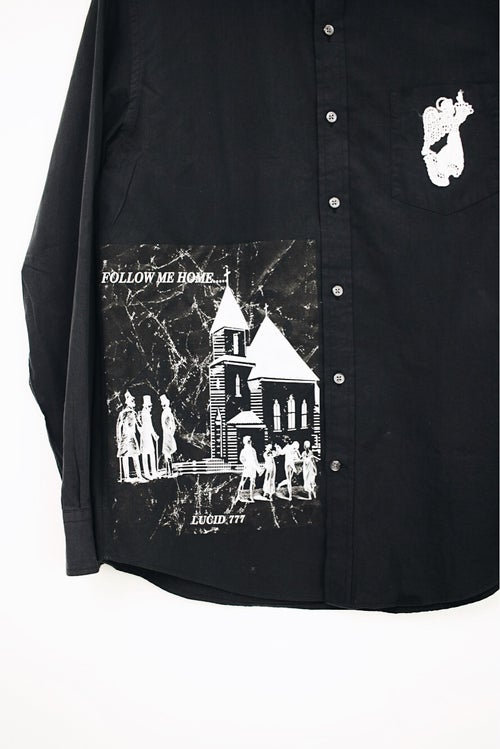 Image of CHURCH & STATE BUTTON UP - BLACK