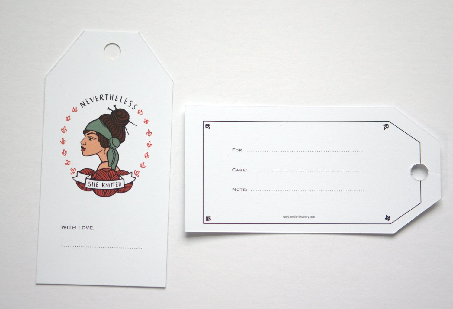 Image of Nevertheless She Knitted Gift tags