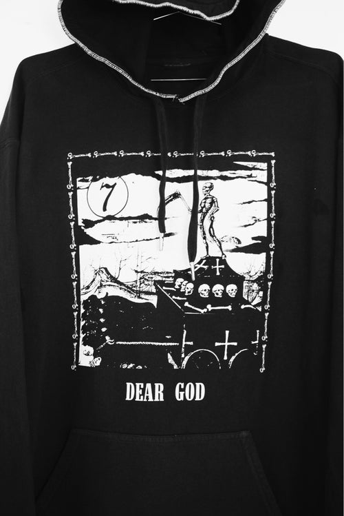 Image of DEAR GOD HOODIE - BLACK