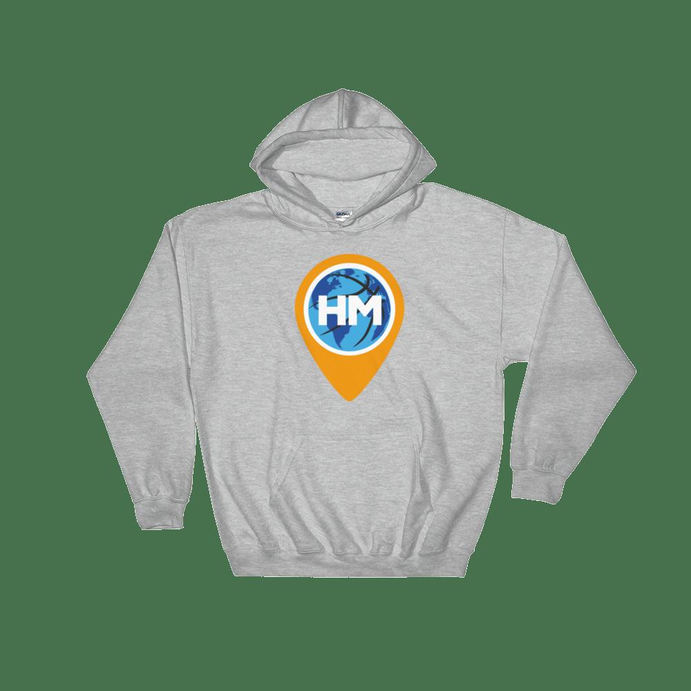 Image of Gildan 18500 Heavy Blend Hooded Grey Sweatshirt