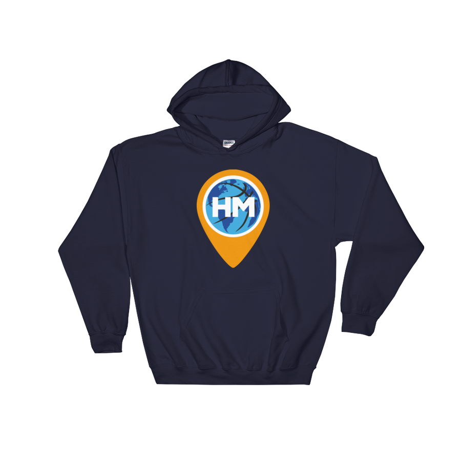 Image of Gildan 18500 Heavy Blend Hooded Navy Sweatshirt