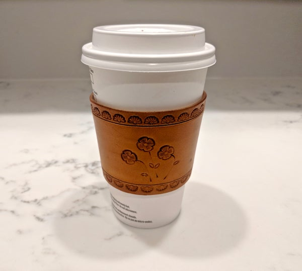 Image of Leather Coffee Sleeve