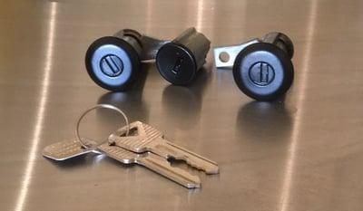 Image of Door/Ignition cylinder sets (black chrome, satin black and satin silver)