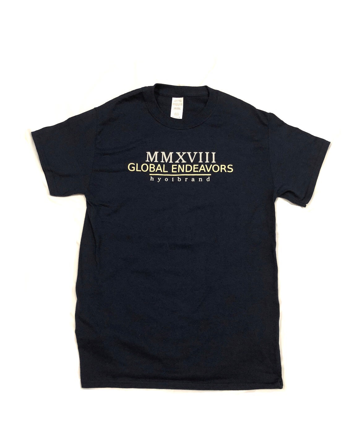 "Image of Navy ""Endeavor"" Tee"