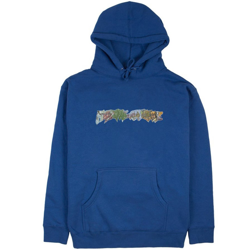 Image of FUCKING AWESOME - BATTLEFIELD HOODIE (BLUE)