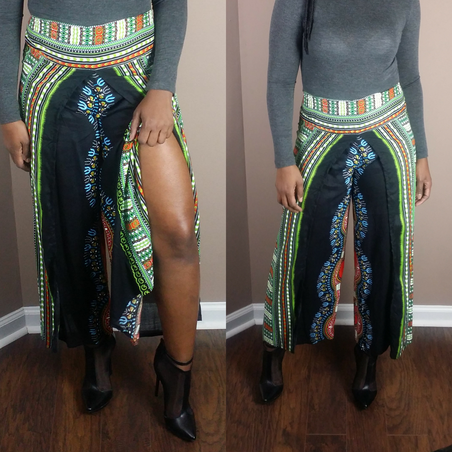 Image of Dashiki split leg pants