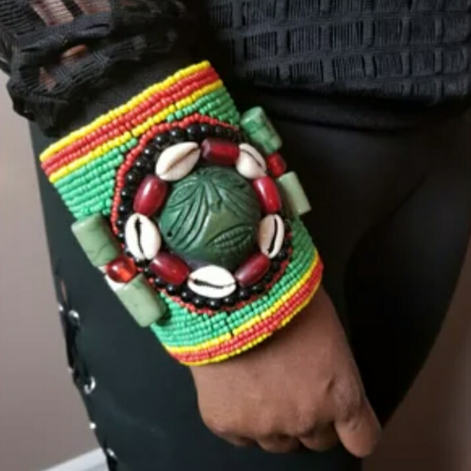 Image of African Beaded Cuff
