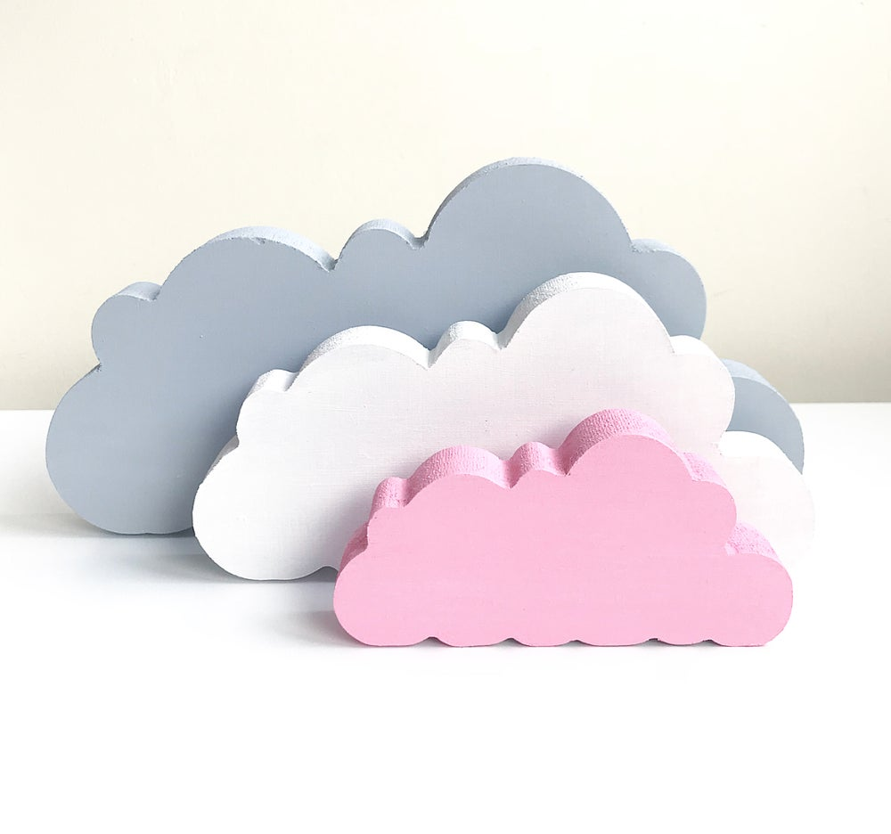 Image of FLUFFY CLOUDS (SET OF 3)