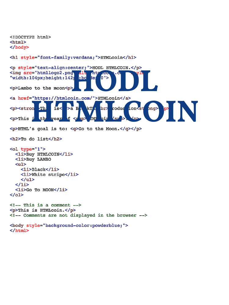 Image of HTMLCoin Code