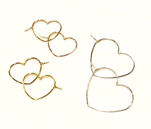 Image of 925 heart earrings