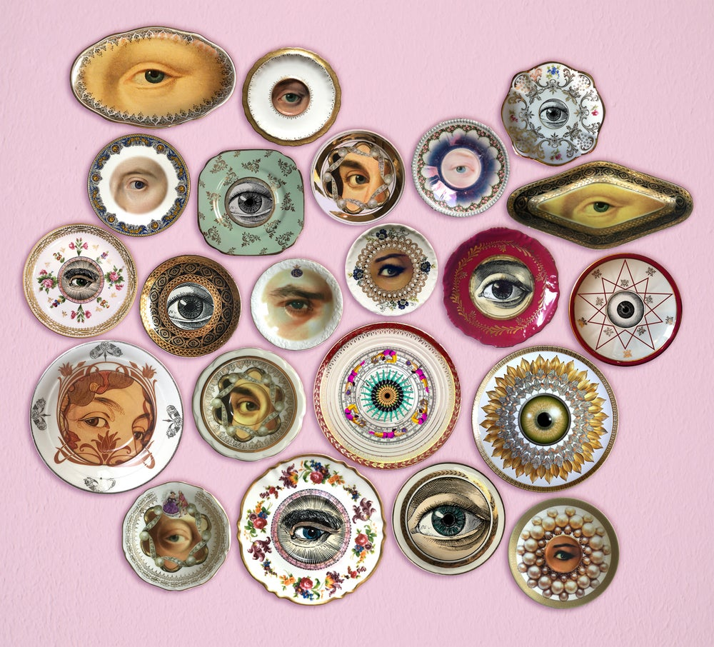 Image of Lover's eye Tray - Digoin France - #0670 Limited Edition