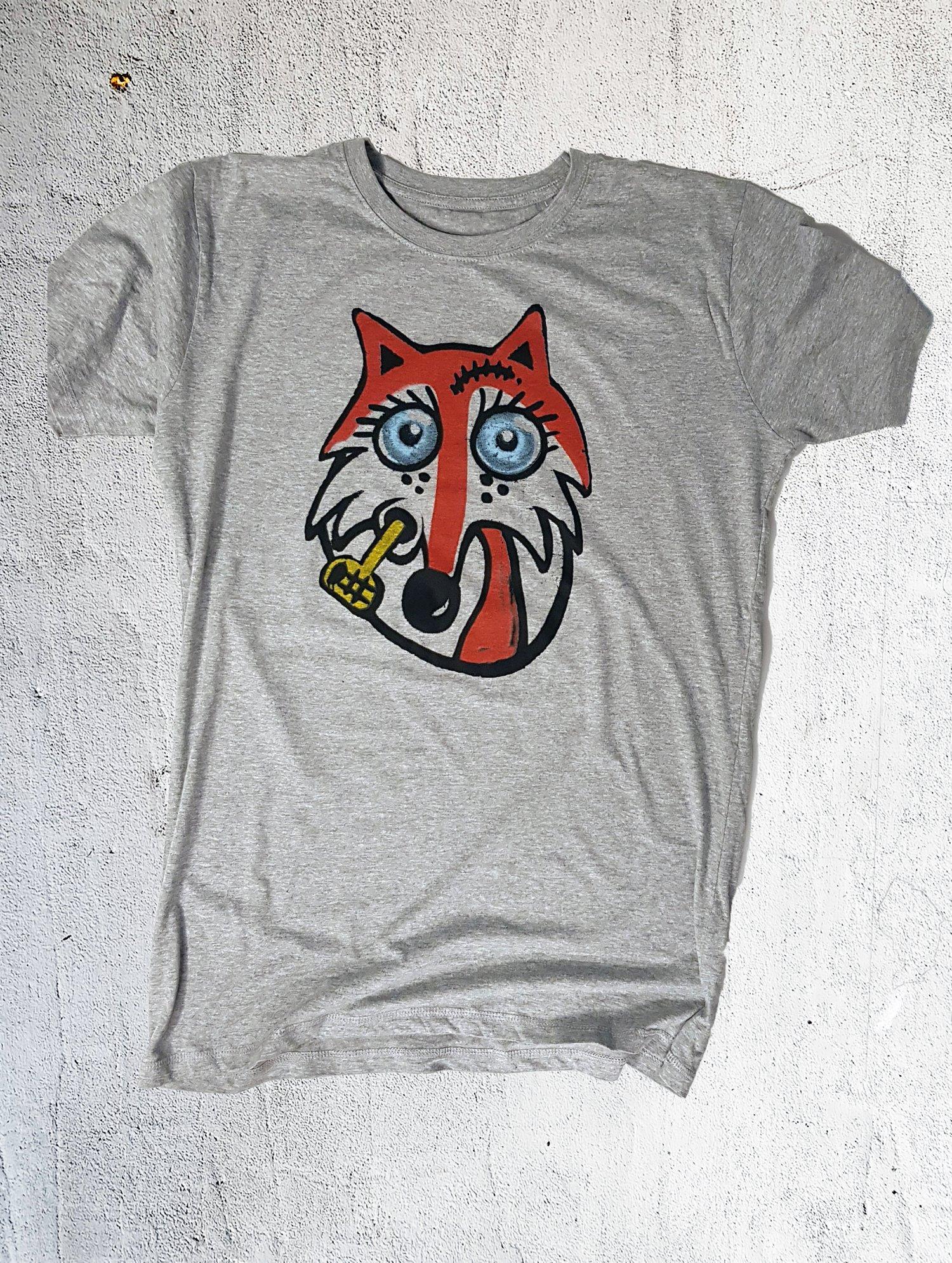 Image of Muggen ræv T-shirt gråmeleret