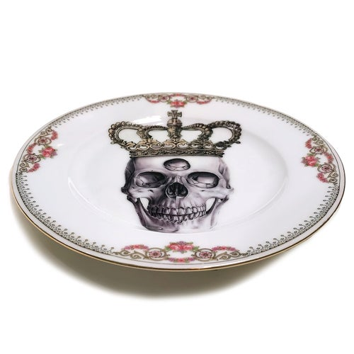 Image of Third Eye King - Vintage Porcelain Plate - #0584
