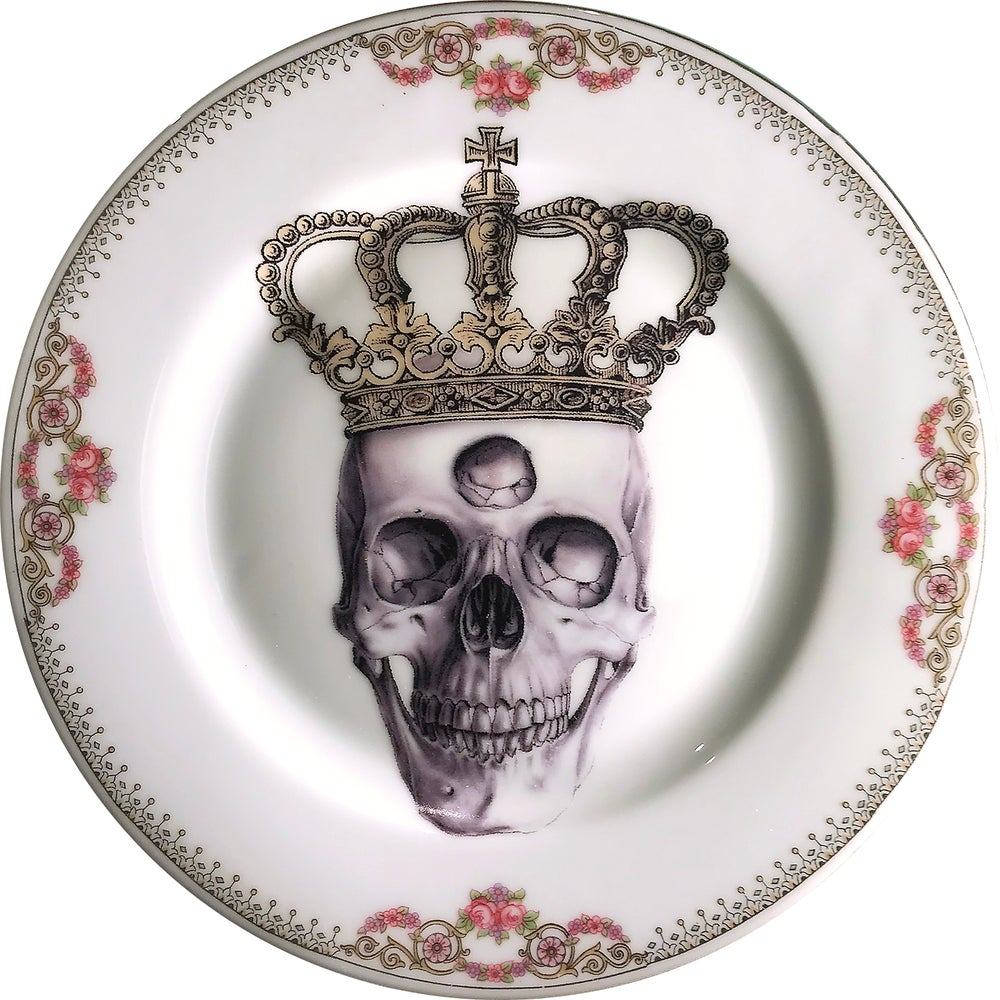 Image of Third Eye King - Vintage Porcelain Plate - #0584
