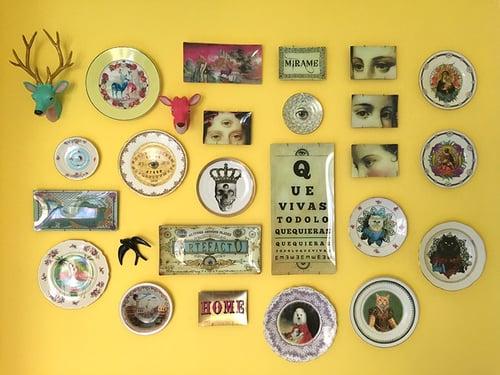 Image of Third Eye King - Vintage Bhoemian Porcelain Plate - #0584